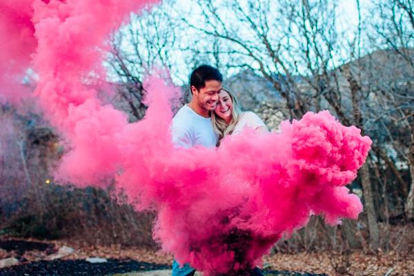 Bombas de Humo de Color para Revelación del Sexo del Bebé