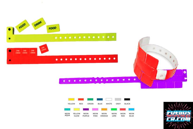 Catálogo, Brazaletes de Seguridad en Vinil con 5 Cupones, Personalizados