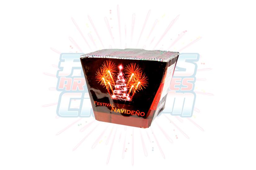 Catálogo, Pólvora Menuda, Caja Multicolor Festival Navideño 25 Tiros Abanico, Fuegos Artificiales CR