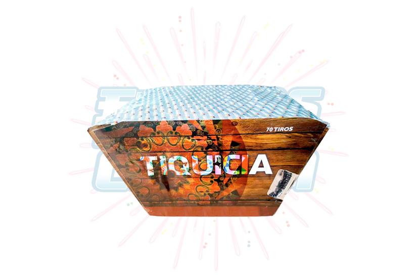 Catálogo, Pólvora Menuda, Caja Multicolor Tiquicia 70 Tiros Abanico, Fuegos Artificiales CR