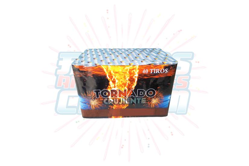 Catálogo, Pólvora Menuda, Caja Multicolor Tornado Crujiente 40 Tiros, Fuegos Artificiales CR