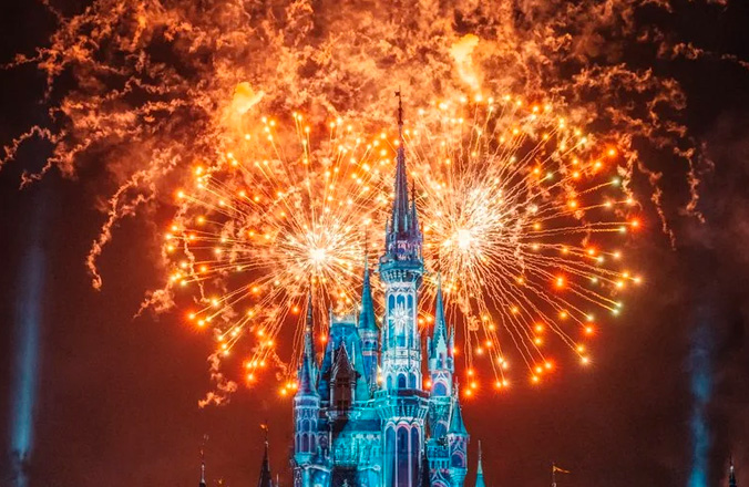 Fuegos Artificiales en Disney, Evento Virtual con Fuegos Artificiales