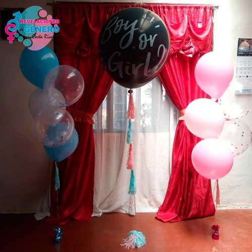 Globo negro de revelación de sexo del bebé más globos de decoración, Revelaciones de Género en Costa Rica