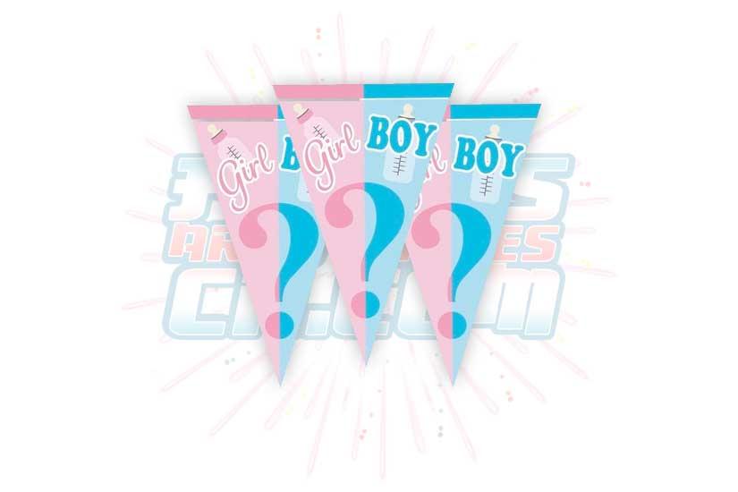 Banderines Girl Or Boy Para Revelación De Género