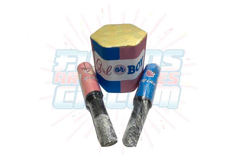 Caja De Pólvora Más 2 Bombas De Humo Para Revelación