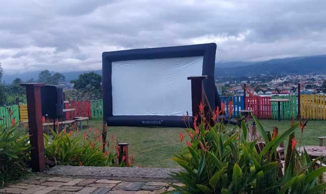 Pantalla Inflable Gigante, Cine Móvil, Videobean, Reproductor de video, Fuegos Artificiales CR
